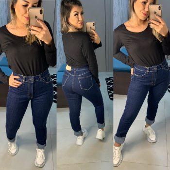 CALÇA JEANS ESCURA NEXO SKINNE - Jeans Escuro - Calças